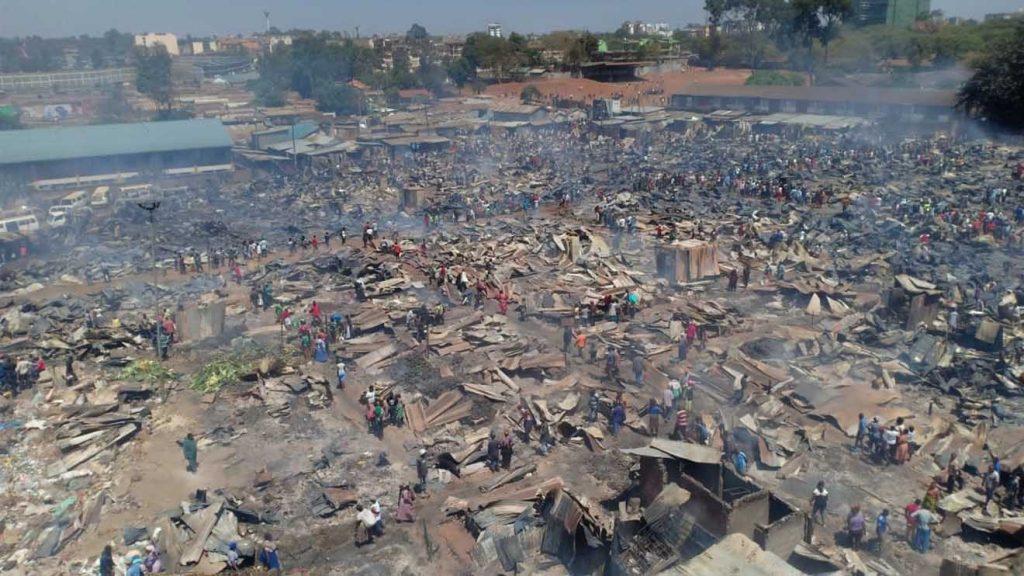 Fire Toi Market in Kibra Kenya