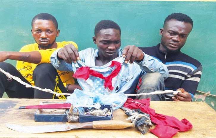3 arrested for possession of female underwear's
