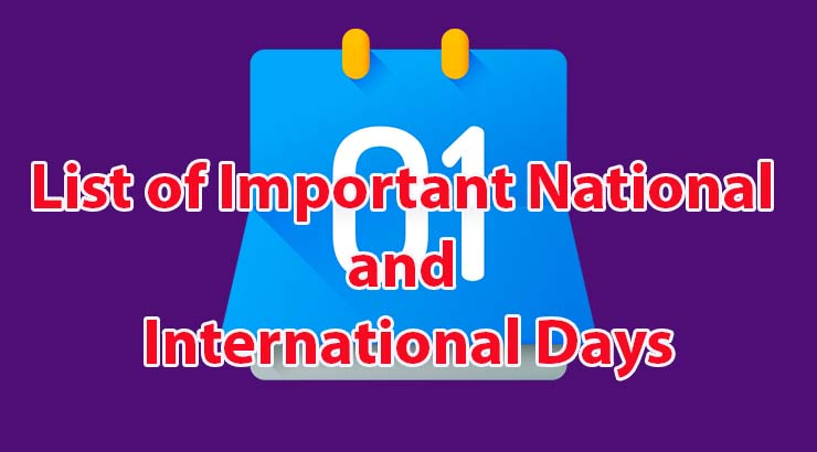 List of International Days 2020 Celebration Awareness
