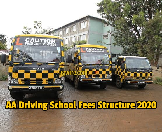 AA Driving School Fees Structure 2020