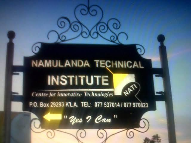Namulanda Technical Institute of Uganda Courses List 2021