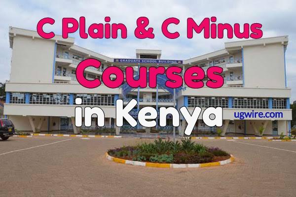 C Plain Courses In Kenya 2020, C Minus Courses in Kenya 2020
