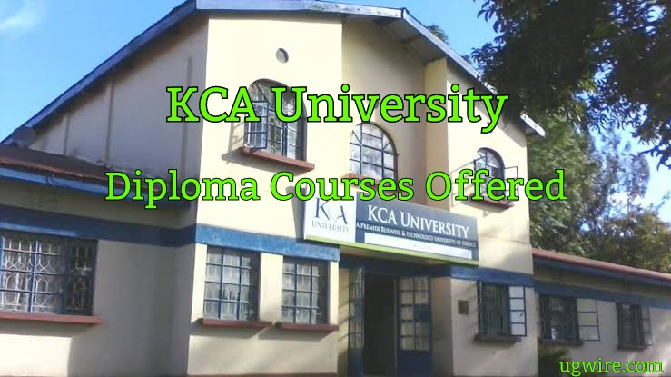 KCA University Diploma courses Offered 2021