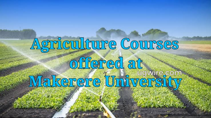 Agriculture Courses Offered at Makerere University