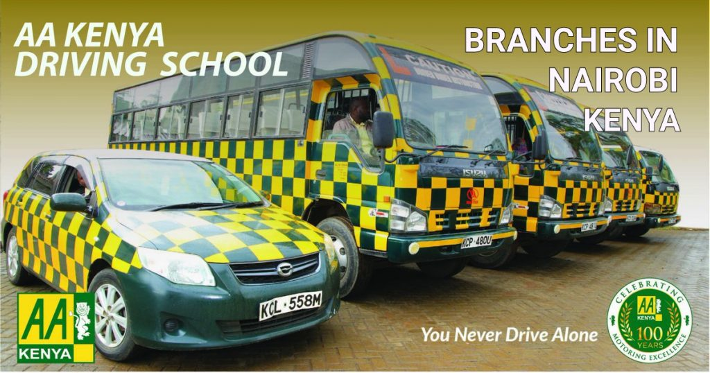 AA Driving School branches in Nairobi City