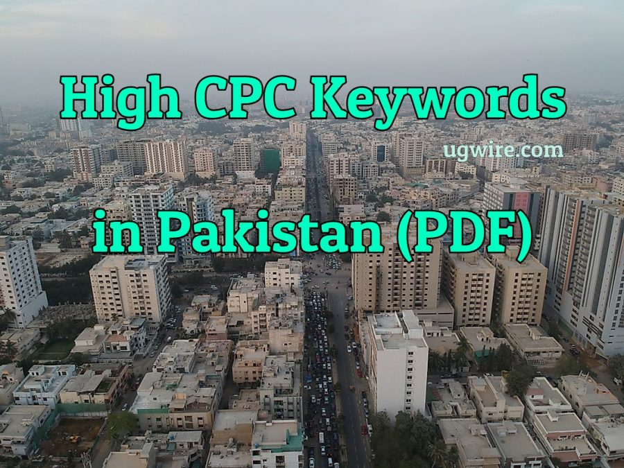 Top 10 High CPC keywords in Pakistan 2021 PDF
